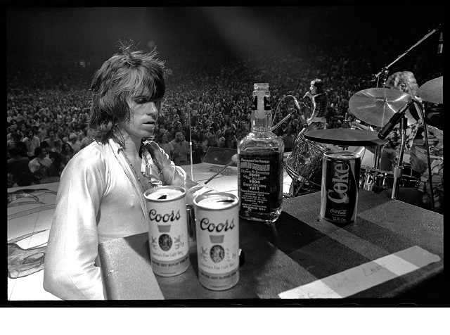Keith Richards with Jack and Coors. 1972