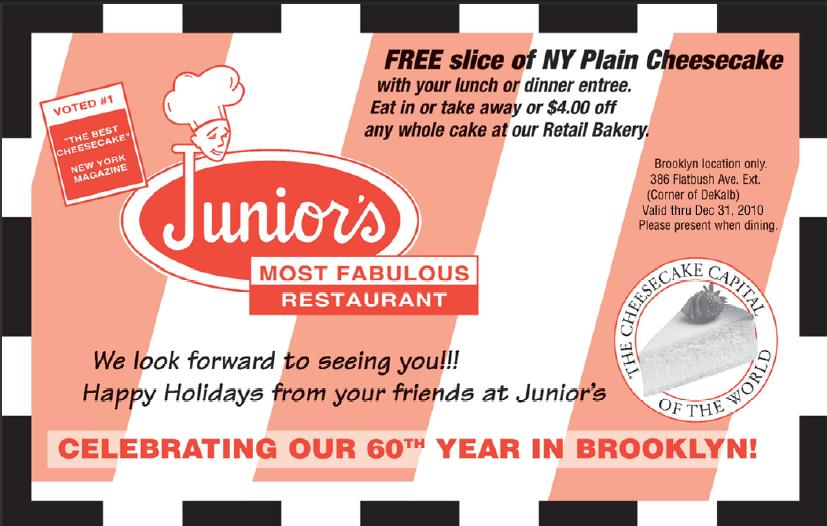 coupon junior cheesecake