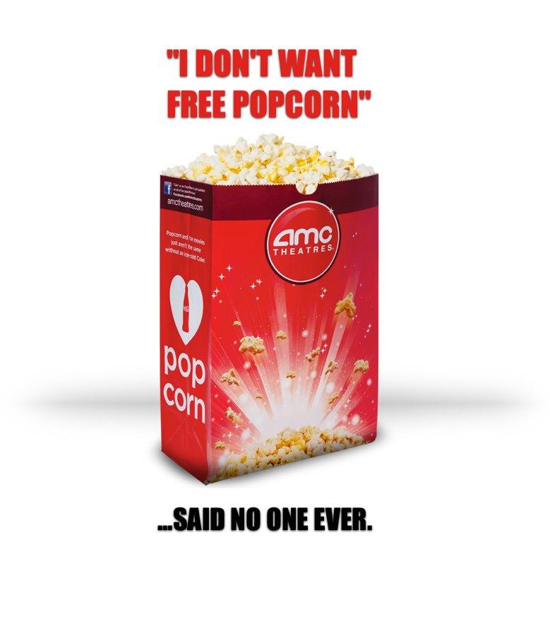 Free movie popcorn amc