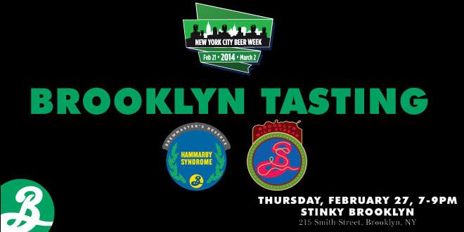 BROOKLYN TASTING @ STINKY BROOKLYN