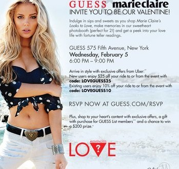 Guess & Marie Claire's Valentines Party