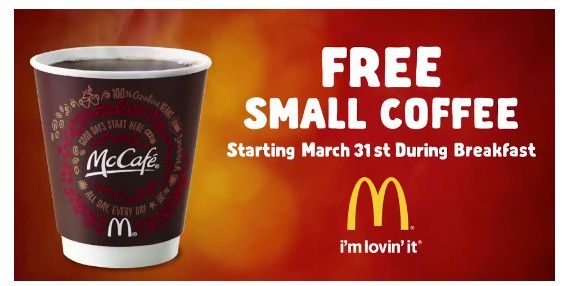 Free McDonalds McCafe Coffee