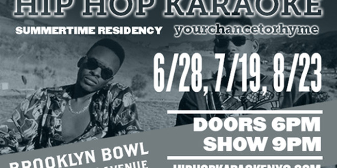 Summertime Residency with… HIP HOP KARAOKE