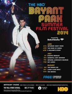 Bryant Park Summer Movie Festival 2014