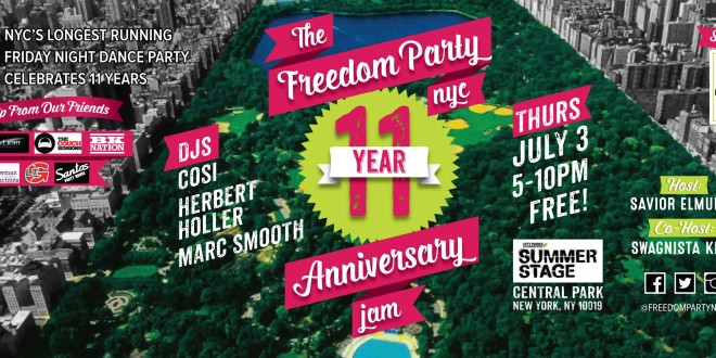 The Freedom Party® NYC 11-Year Anniversary Bash