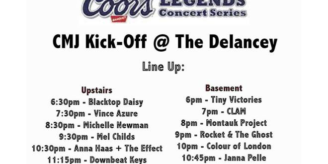 CMJ Kick-Off Show at The Delancey