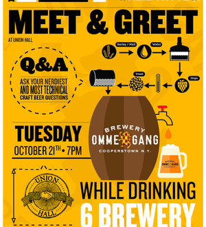 OMMEGANG BREWERY MEET & GREET