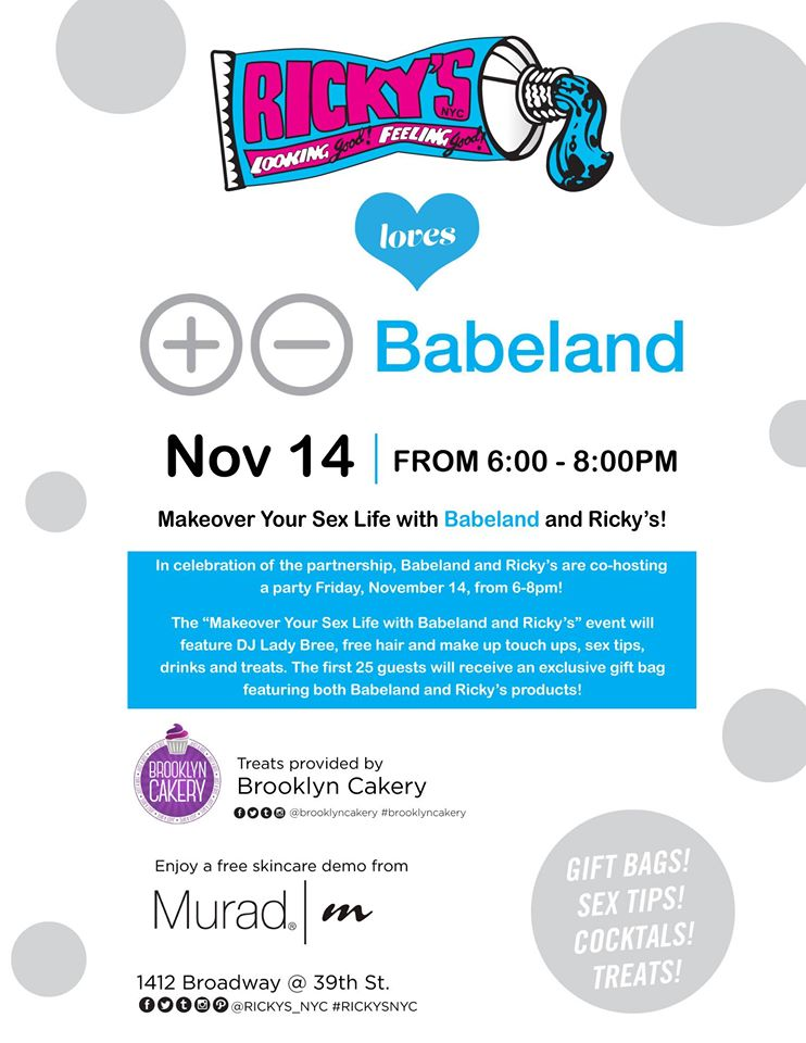 Makeover Your Sex Life With Babeland Ricky S Nyc Living Free Nyc