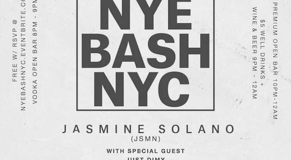 NYE Bash with Jasmine Solano