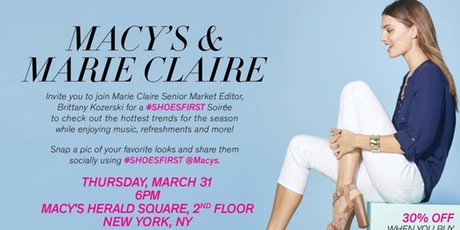 SHOESFIRST Soiree with Marie Claire