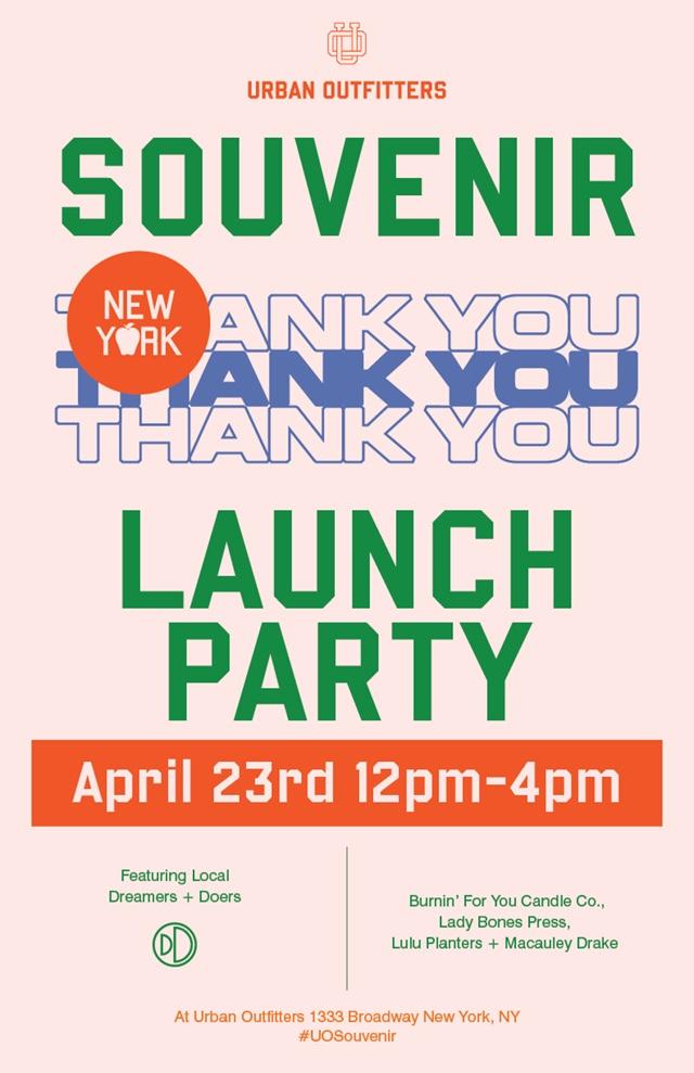 Urban Outfitters Souvenir Launch Party